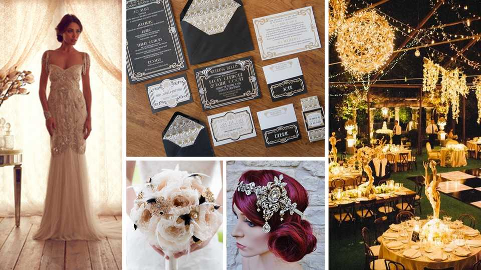 Wedding inspiration the great gatsby closer glitz glam and gorgeous whats not to love about the great gatsby junglespirit Image collections