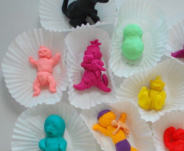 Baby Shower Game Name: Play Doh Babies