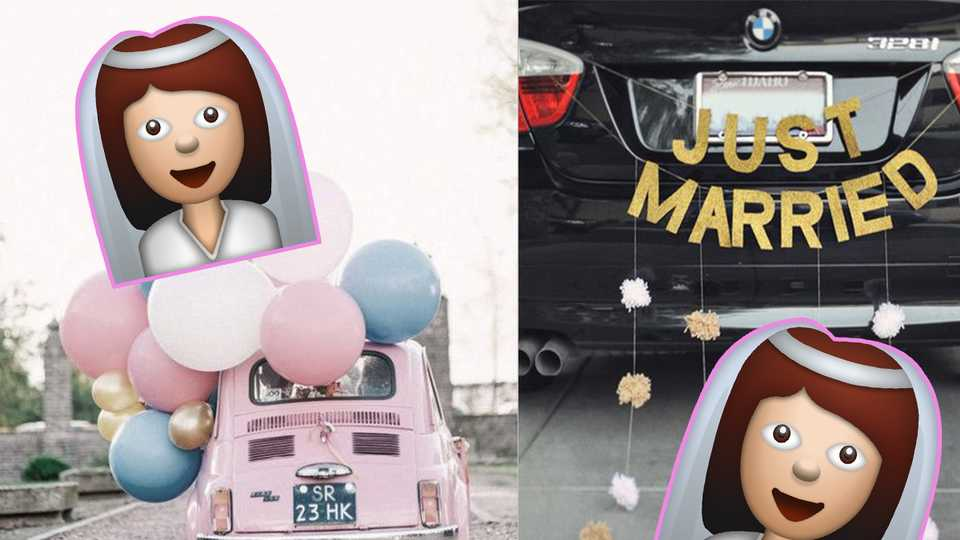 7 Wonderful Wedding Car Decorations That Will Have You Reaching For