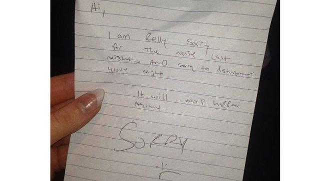 Helen Flanagan complains about noisy neighbours via letter writing
