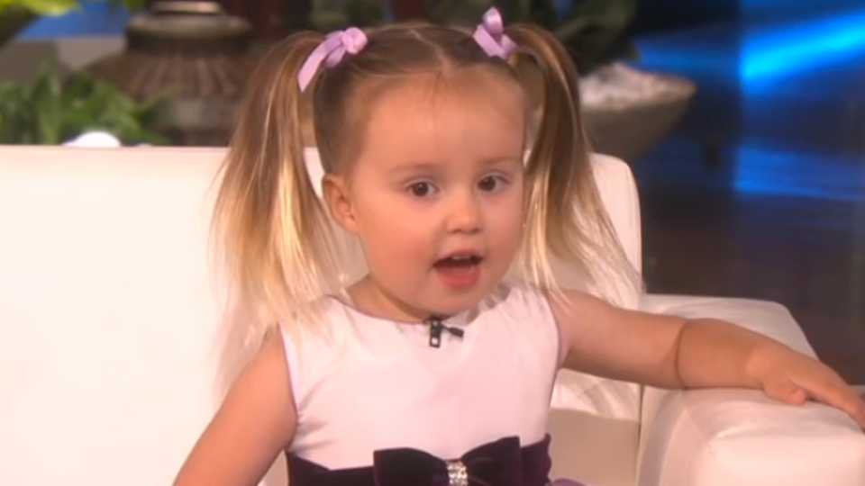 Watch this 3 year old girl will amaze you with her scientific ellen degeneres was left astounded after having a genius toddler on her chat show urtaz Image collections