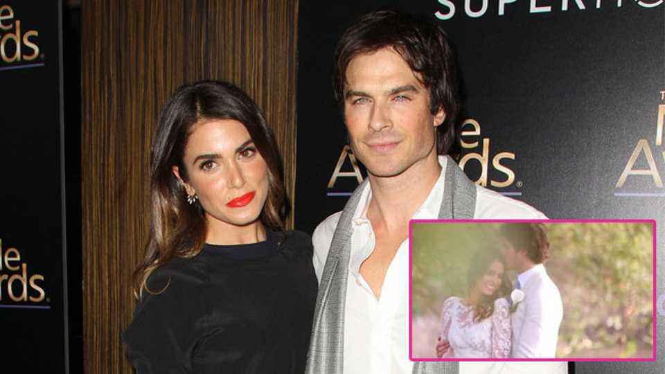 Nikki reed shares romantic video from ian somerhalder wedding day could we be more jealous of nikki reed junglespirit Gallery
