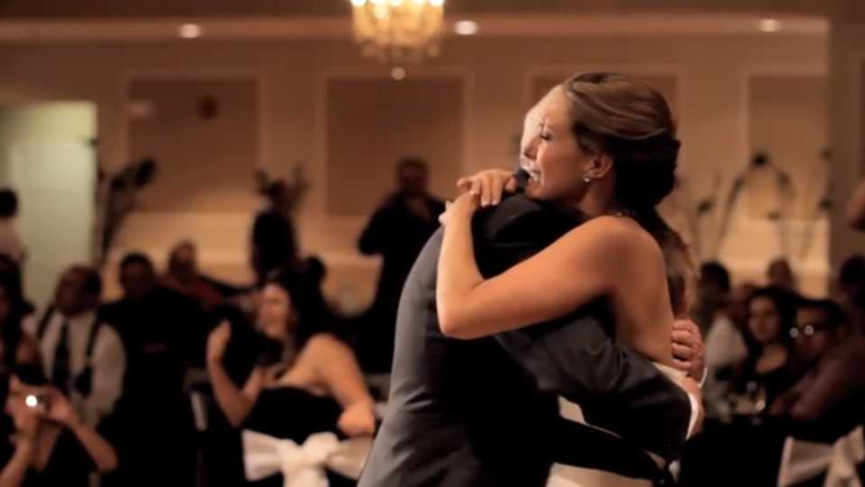 VIDEO Her Father Died Just Before Wedding So This Brides Brother Gave The Most Beautiful Daughter Dance Of All Time