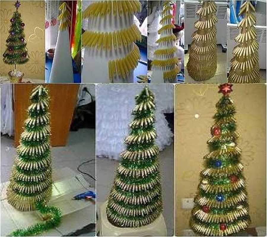 Christmas diy 25 gorgeous christmas decorations you can for Homemade tree decorations