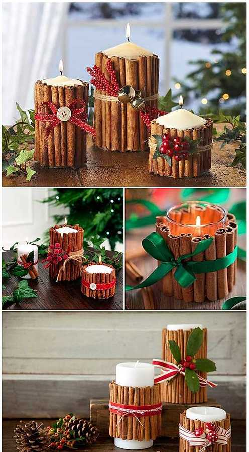 christmas diy decor homemade candles