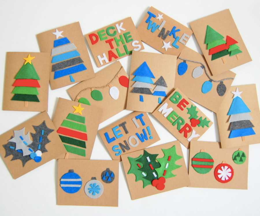 DIY Christmas cards: 15 homemade Christmas cards to make with the ...