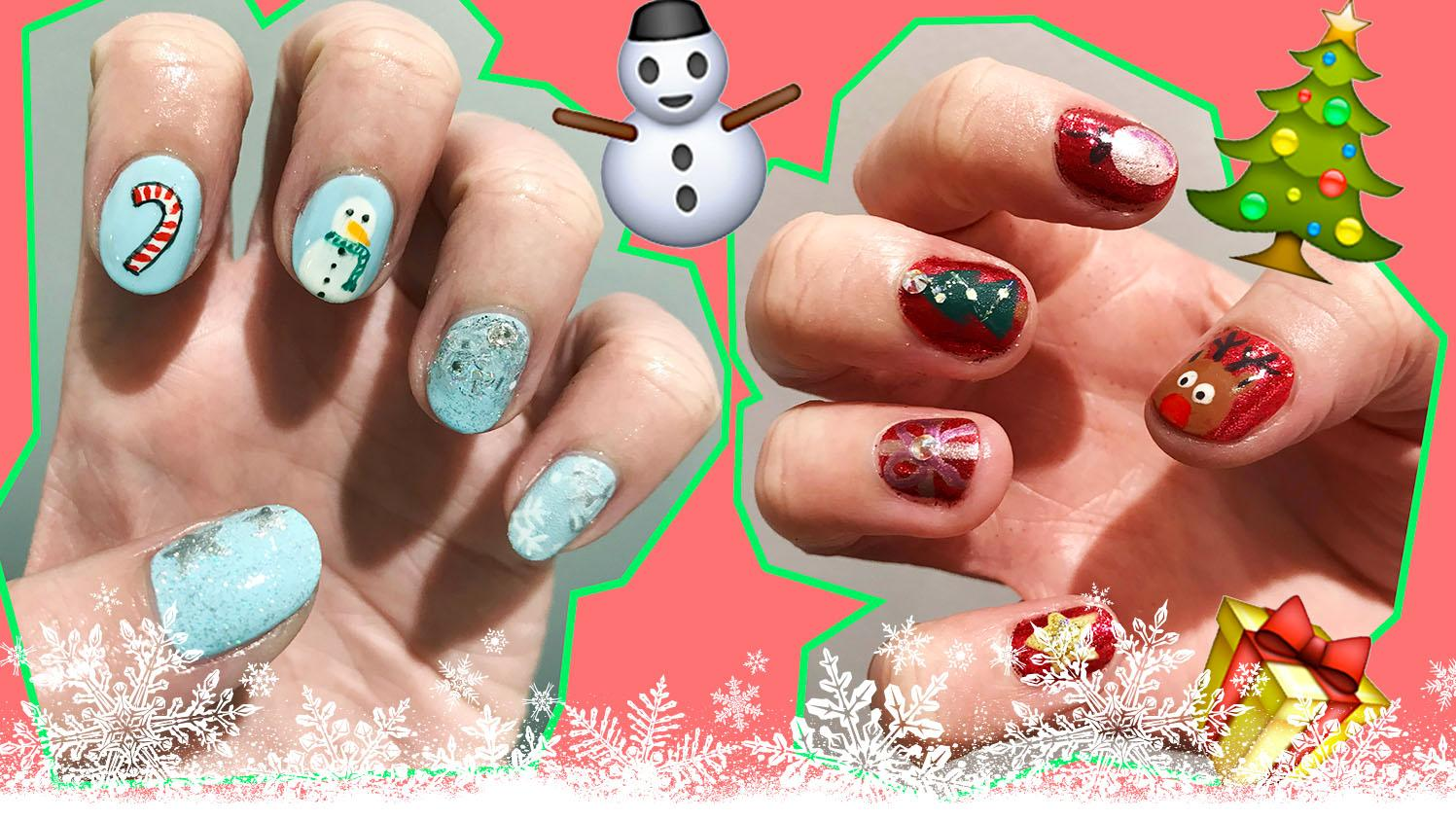 Beauty tutorial: Christmas nail art (because your fingers deserve to ...